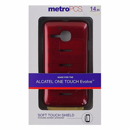 Metropcs Soft Touch Shield Case For Alcatel One Touch Evolve   Red