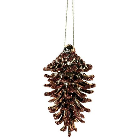 Copper Christmas Ornaments.3ct Copper Glittered Natural Pine Cone Christmas Ornaments 3 5