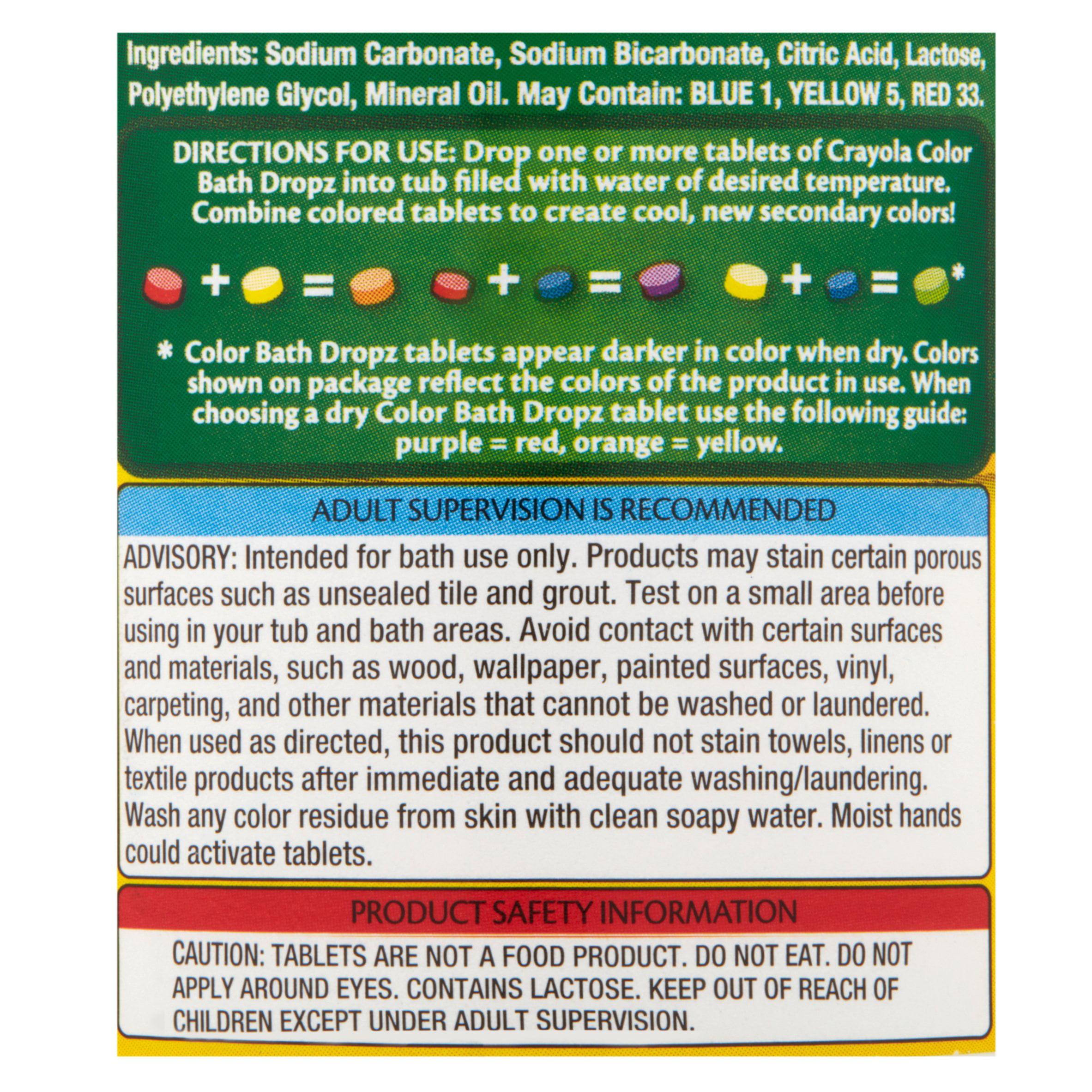Crayola Bath Dropz Color, 2.68 OZ - Walmart.com