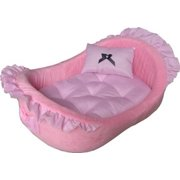 HDP Pet  Bassinet Bed with Removable Pillow Color:Pink