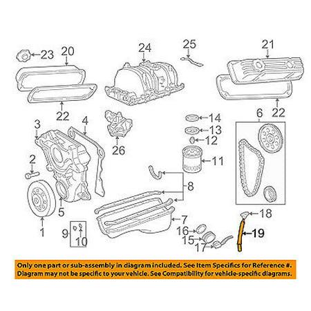Dodge CHRYSLER OEM 98-03 Durango 5.9L-V8 Engine-Oil Tube 53020926