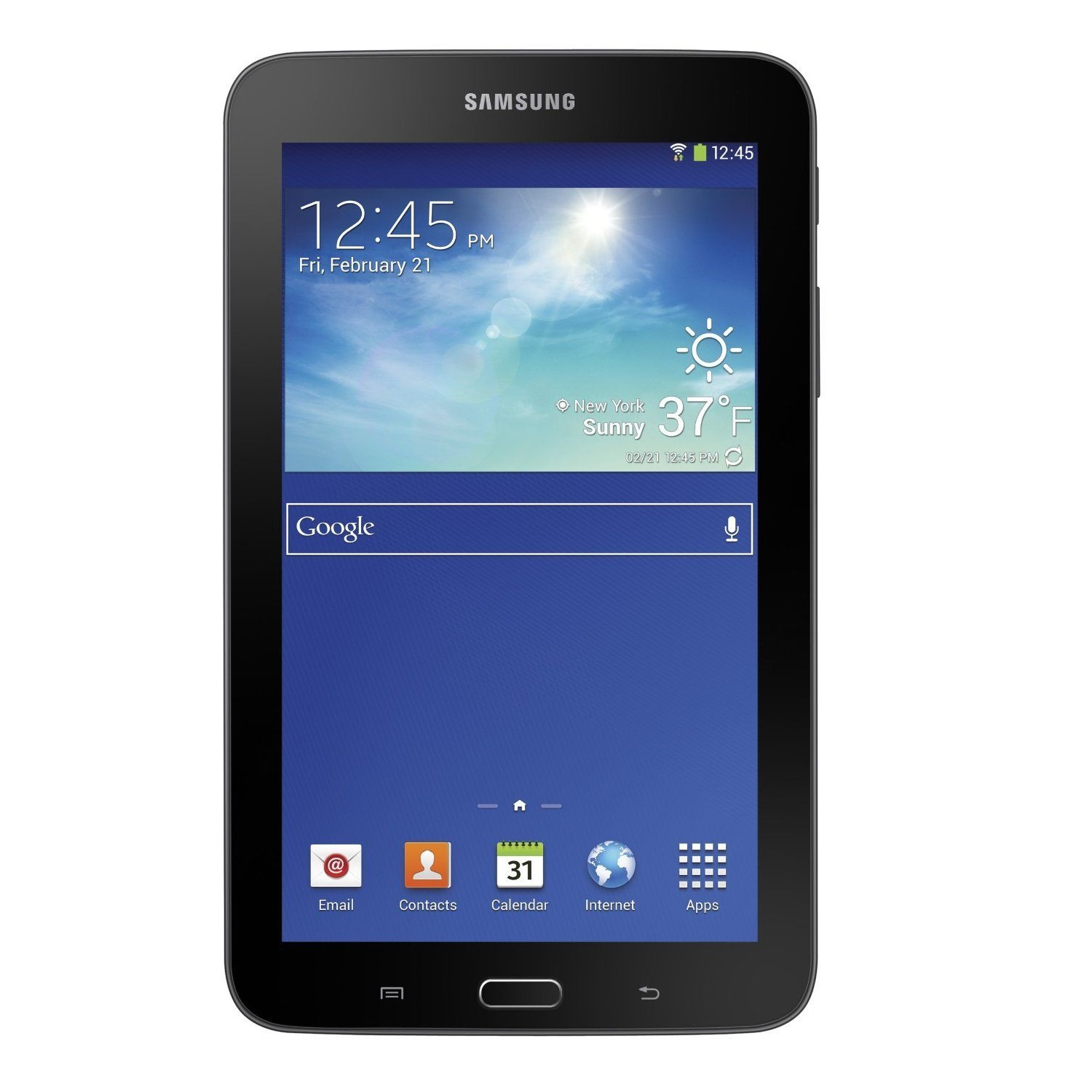 "Samsung Galaxy Tab 3 Lite 7"" 8GB GPS Wi-Fi Android Tablet SM-T110 - Dark Gray (Certified Refurbished)"
