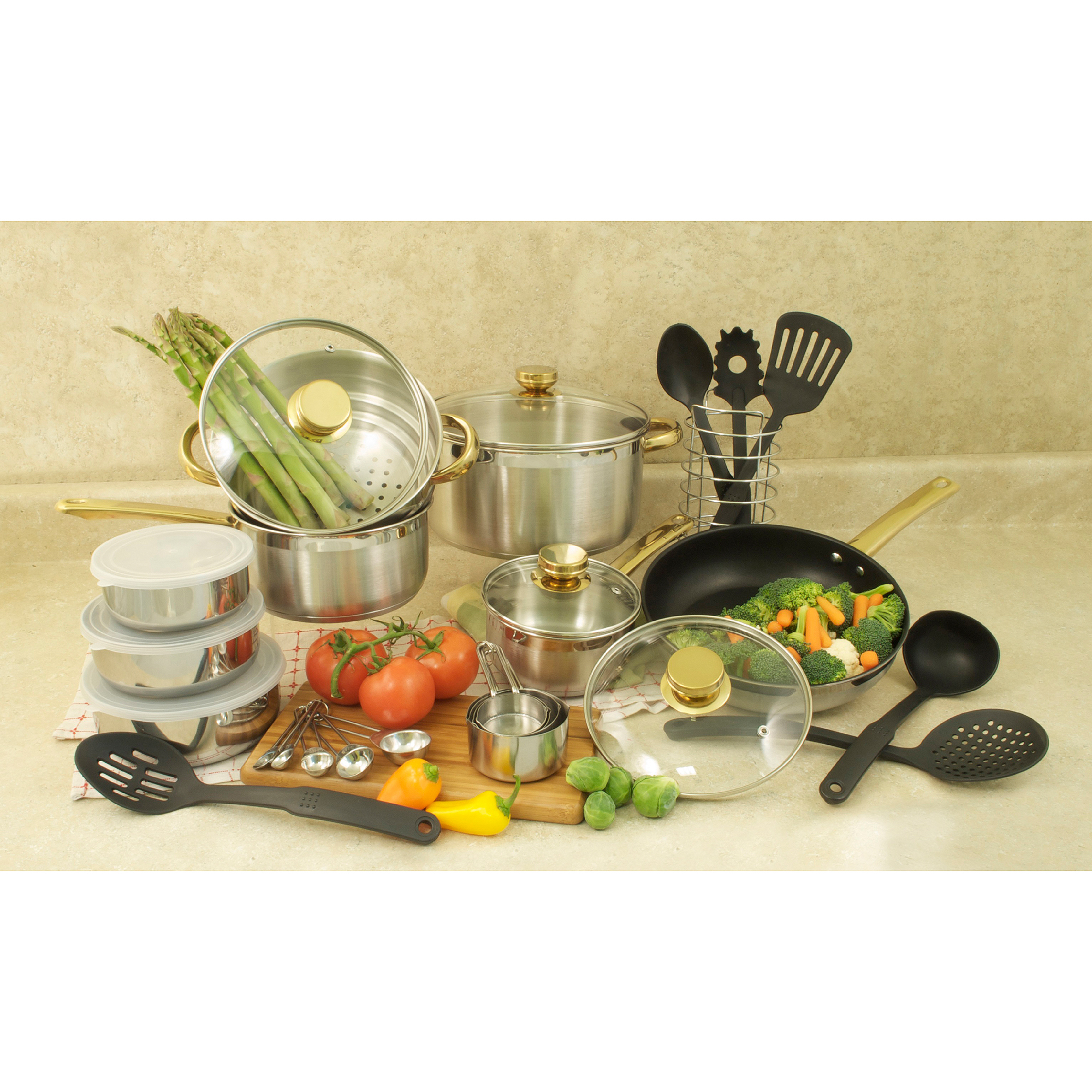 Cook Pro 31pc 18/10 Cookware Set