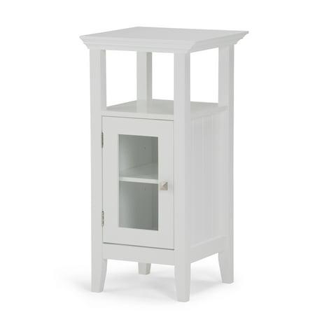 Bath Floor Cabinet (Brooklyn + Max Brunswick 30 inch H x 15 inch W Floor Storage Bath Cabinet in White )