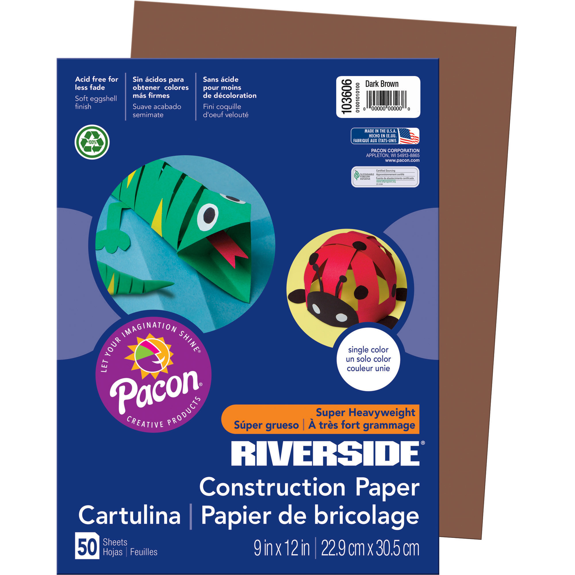 Pacon® Riverside® Construction Paper - Dark Brown(pack of 1)