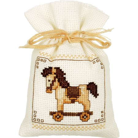 """Bags Toys Set Of 3 On Aida Counted Cross Stitch Kit-2""""X2.5"""" 18 Count - image 1 de 1"""
