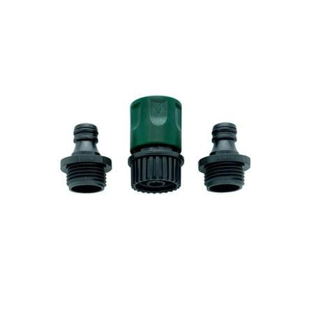 Orbit Complete Garden Hose Faucet Quick Connect Set - Quik Release Hoses, 58089N ()