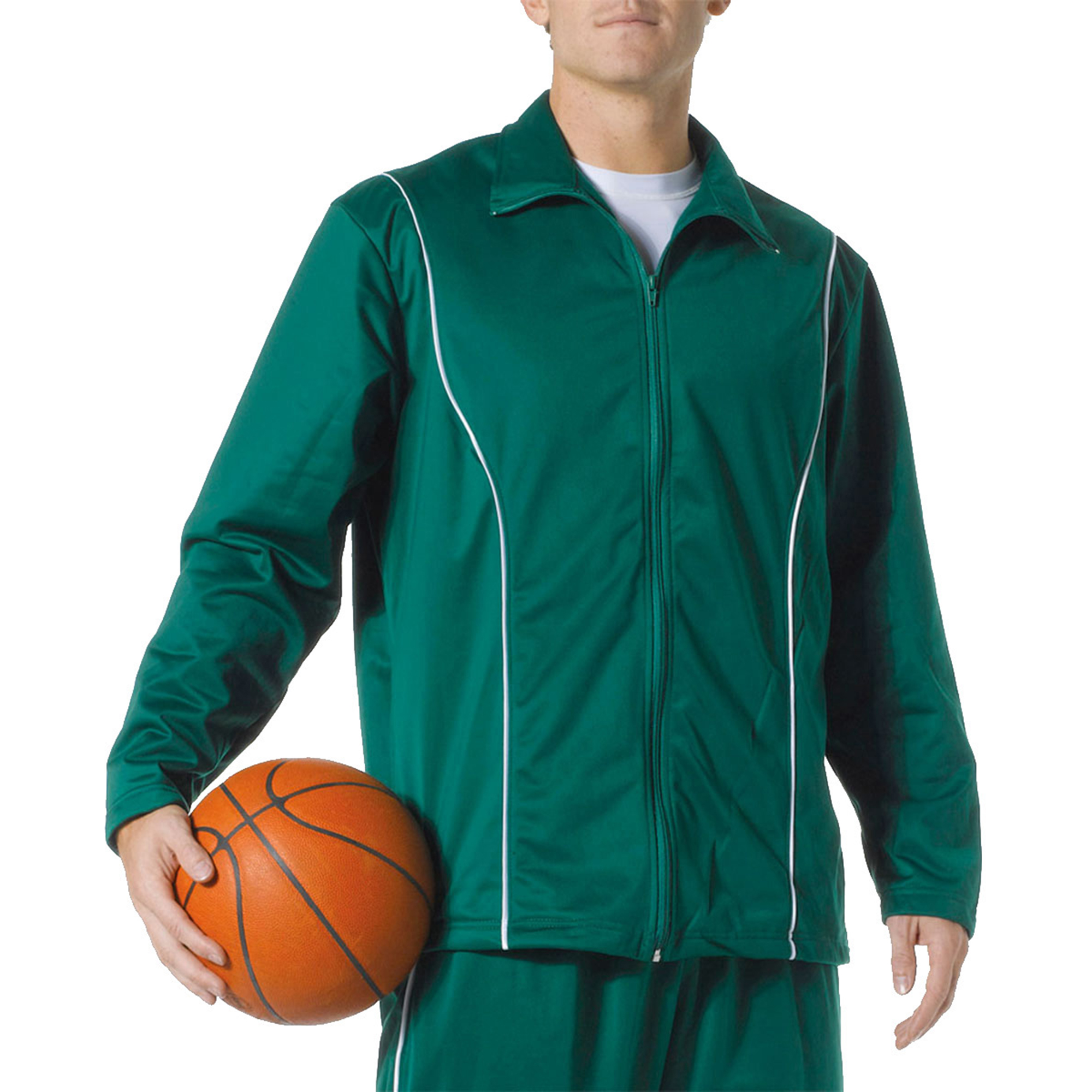 Image of A4 Men's Contrast Piping Full-Zip Jacket