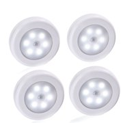 Battery operated wall lights qedertek 4 pcs wireless motion sensor light battery powered led stick anywhere nightlight aloadofball Image collections