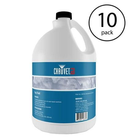Chauvet DJ 1 Gal Bottle Fog Smoke Juice Fluid for Fog Machines | FJU (10 Pack)
