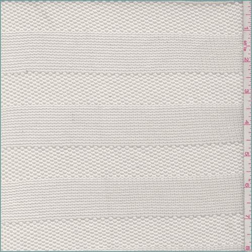 Cream Stripe Sweater Knit, Fabric By the Yard