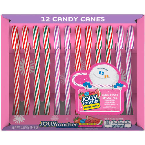 Jolly Rancher Holiday Smoothie Candy Canes, 6.3 oz., 12 ct.