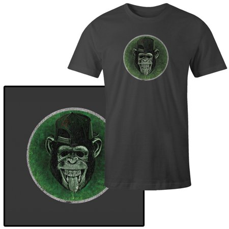 Men's Monkey with Tongue Out Wearing Baseball Cap T-Shirt - Monkey Baseball