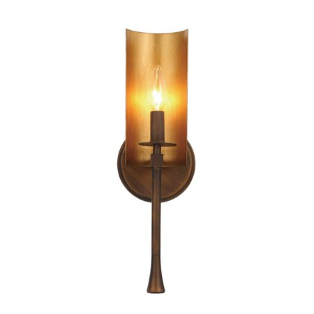 Wall Sconces 1 Light Bulb Fixture With Chestnut Bronze and Gold Finish Steel Material CA Bulbs 5 inch 60 Watts