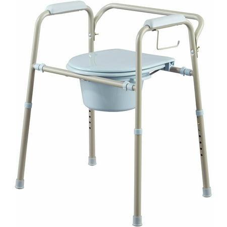 Medline steel 3 in 1 bedside toilet commode with microban - Commode profondeur 35 ...