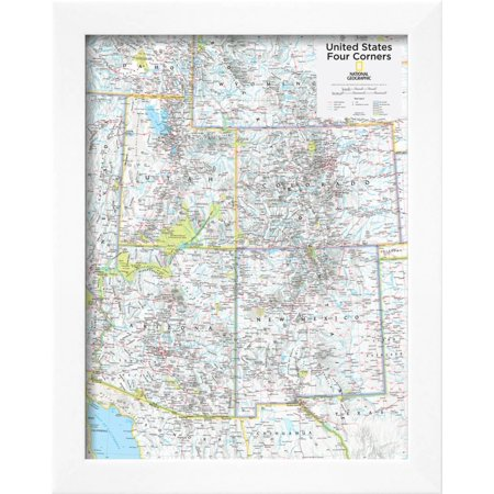 2014 four corners us national geographic atlas of the world 10th edition framed poster wall art by national geographic maps