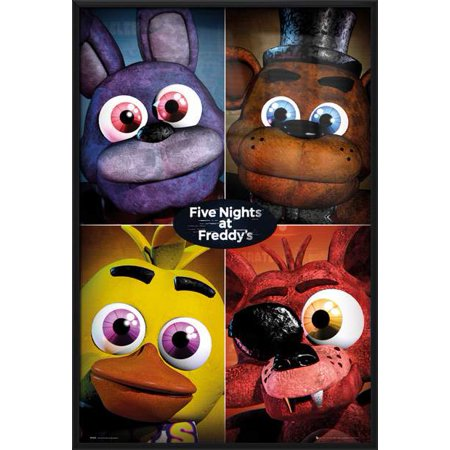 5 Nights At Freddy's - Framed Gaming Poster / Print (Character Grid) (Size: 24