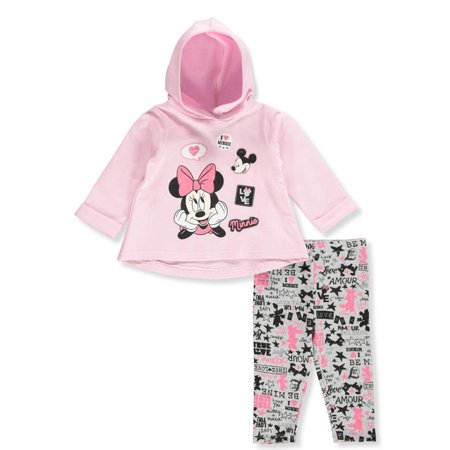 Disney Minnie Mouse Baby Girls' 2-Piece Leggings Set Outfit (Custom Disney Outfits)