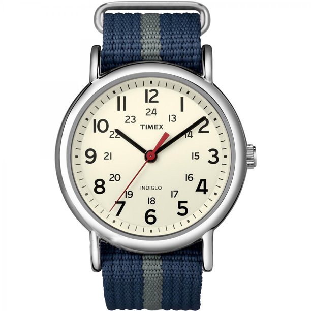 Timex Weekender Slip-Thru Watch - Navy/Grey