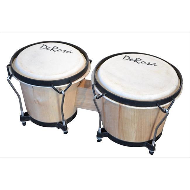 De Rosa BOG78-NT 7 in. and 8 in. Bongo Drum in Natural by De Rosa