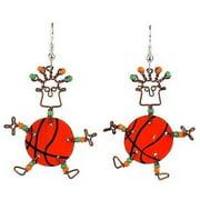Creative Alternatives Dancing Girl Basketball Earrings