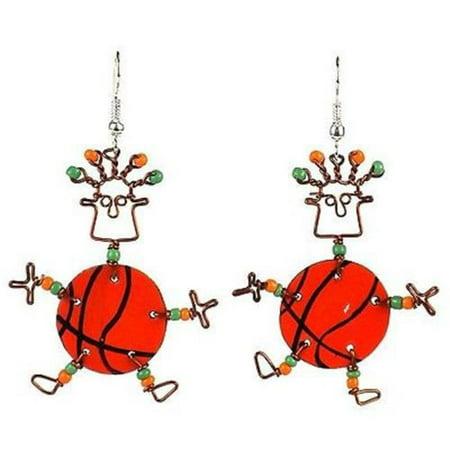 Dancing Girl Basketball Earrings](Basketball Earrings)