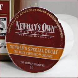 Newman's Own K-Cup Special Blend Decaf Portion Organic Co...