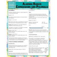 Algebra Basics, Expressions and Polymials (Speedy Study Guide)