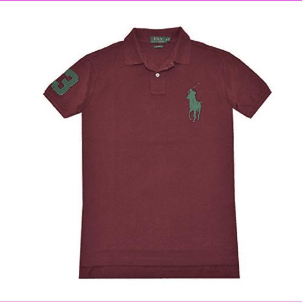 Polo Ralph Lauren Men's Custom Fit Big Pony Polo Shirt, Classic Wine,Size S, $98