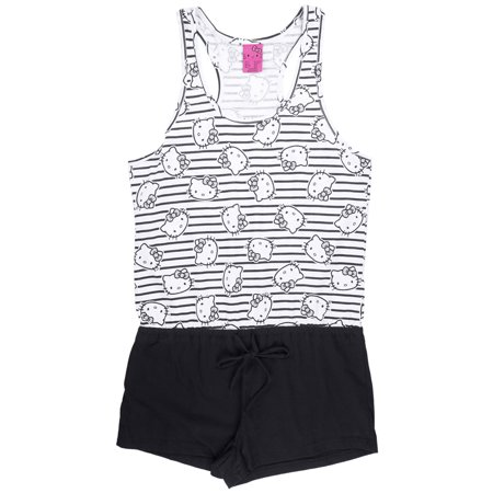 Hello Kitty Pajama Romper Sleepwear Juniors Pjs Sanrio