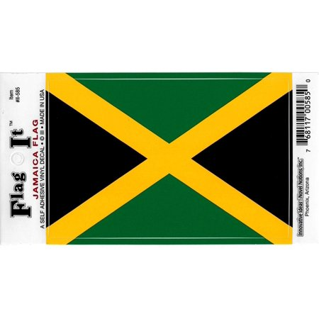 Vinyl Decal- Jamaica Flag Sticker - 3.25