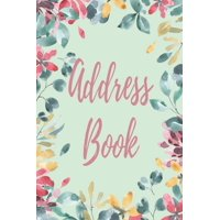 Address Book: Alphabetical Organizer With Birthday, Address, Work/Mobile Numbers, Social media And Email (Paperback)