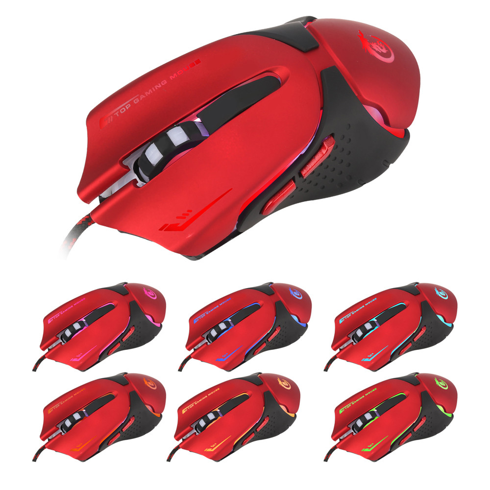 Popular Hot 6D LED Optical USB Wired 3200 DPI Pro Gaming Mouse For Laptop PC Game RD