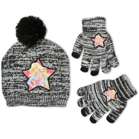 Mattel Big Girls Barbie Winter Beanie Hat and Gloves Set, Age 7-16
