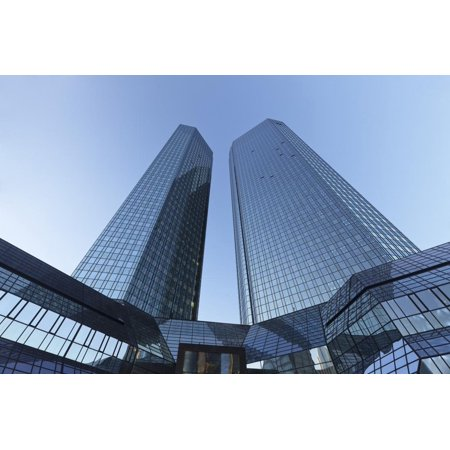 Deutsche Bank office tower block, Frankfurt, Hesse, Germany, Europe Print Wall Art By Markus Lange - Halloween Frankfurt Germany