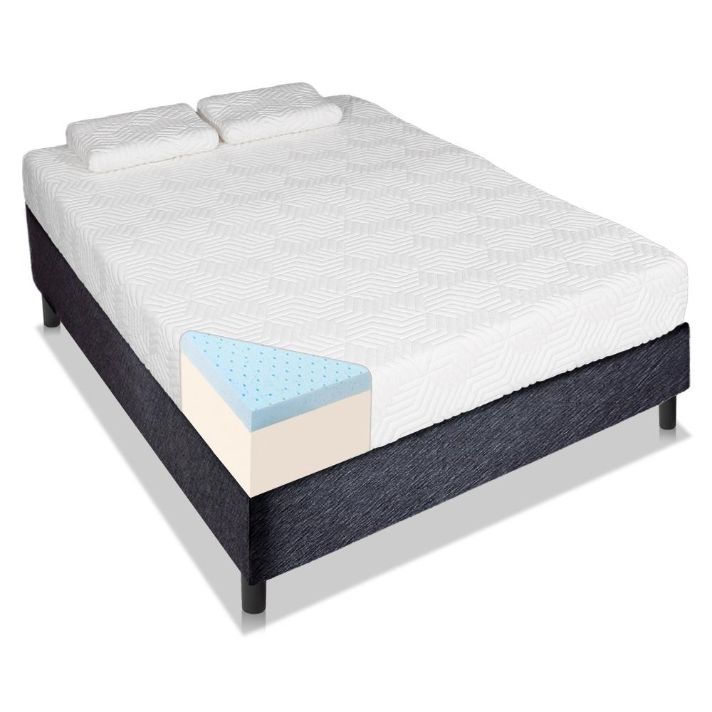 """Ktaxon Queen Size Cool Medium-Firm Memory Foam 10"""" Mattress with 2 Pillows"""