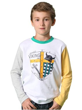 3d667464ccde Product Image Leo Lily Big Boys  Long Sleeve Casual Crew Neck T-Shirt Kids  Undershirt
