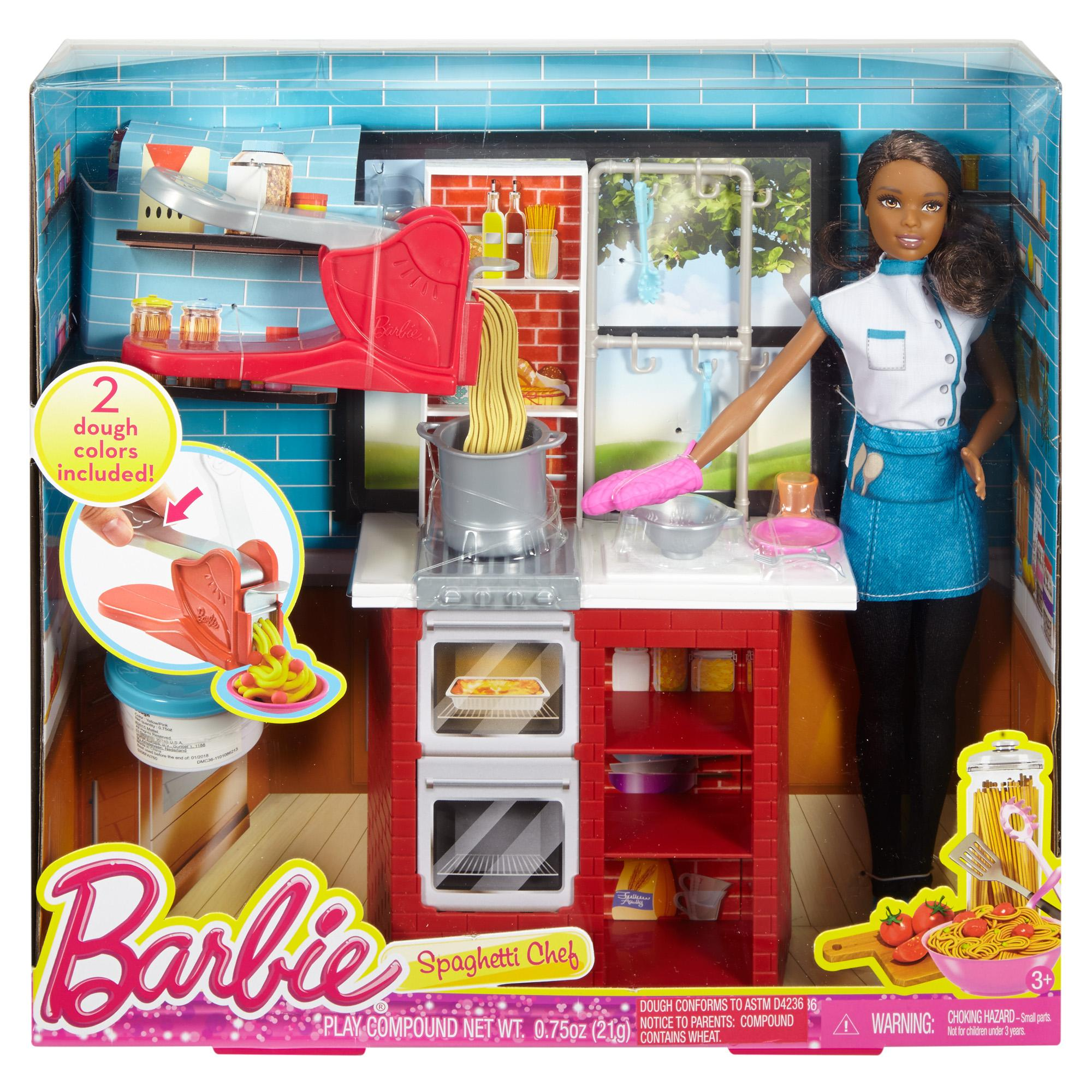 barbie spaghetti chef doll and playset african american walmart com