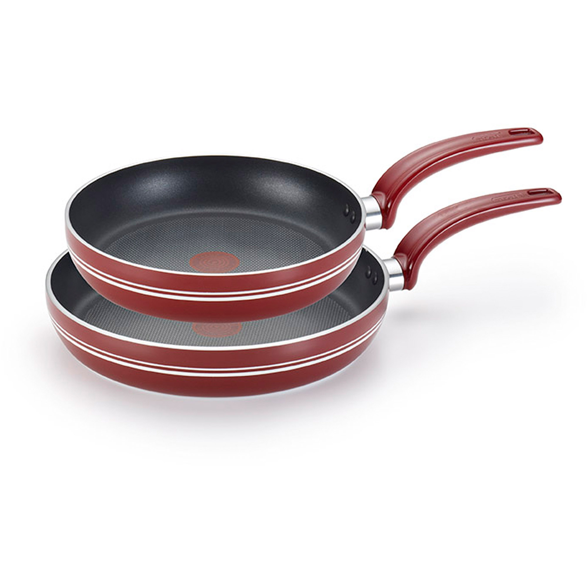 "T-fal 8""/10"" Matisse Non-Stick 2-Piece Fry Pan Set, Red"