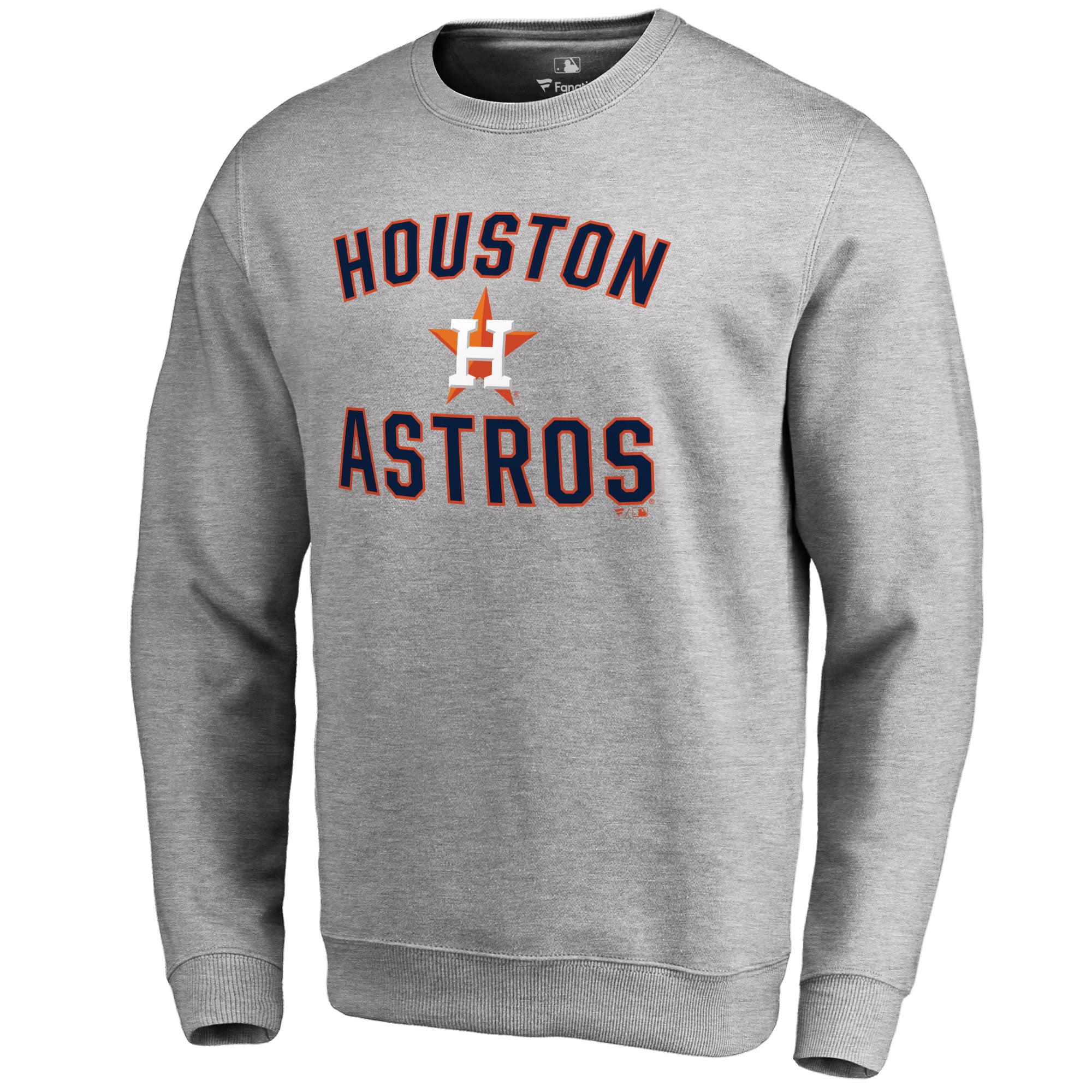 bb9157ef Houston Astros Victory Arch Pullover Sweatshirt - Ash - Walmart.com