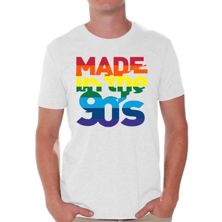 Awkward Styles Made in the 90's Men Shirt 90's Party Shirt for Him Rainbow 90s T Shirt 90's Outfit Rainbow Shirt 90s Tshirt 90s Clothes for Men 90s Shirt Gay Pride Shirt 90s Costume 90 Shirts for Men