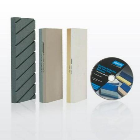 - Norton Waterstone Starter Kit: 220/1000 grit stone, 4000/8000 grit stone, SiC flattening stone