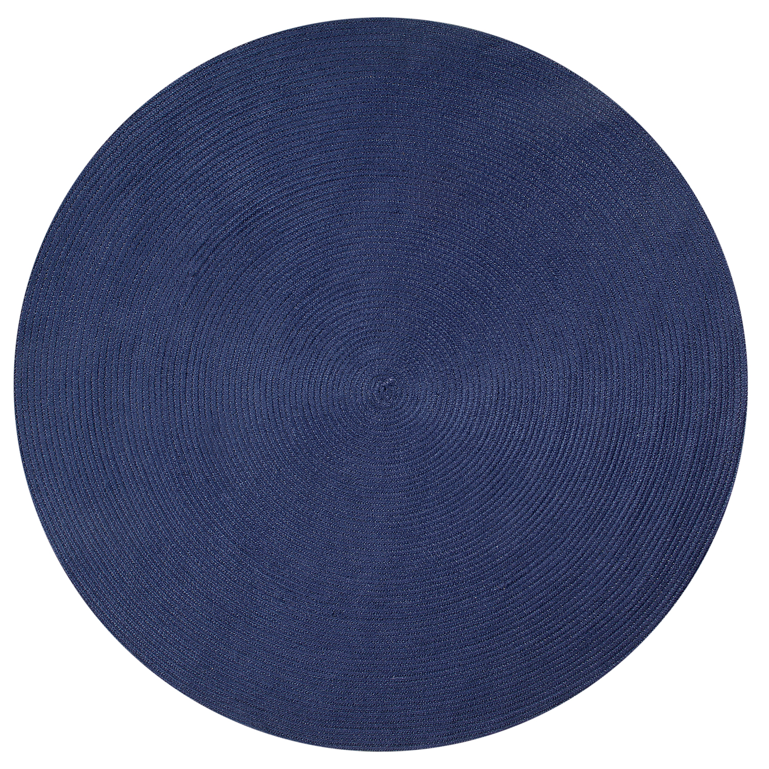 Country Braid 6' Round - Dark Blue Solid
