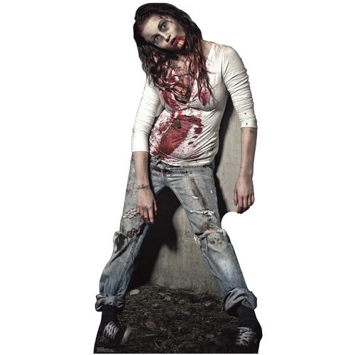 Zombie Girl Halloween Lifesize Standup Standee Cardboard Cutout Poster