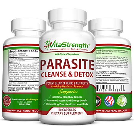 Premium Parasite Cleanse  - Natural Intestine Detox with Black Walnut, Wormwood Powder & More - Eliminate Parasites, Pinworms & Other Intestinal Worms - Natural Remedies For