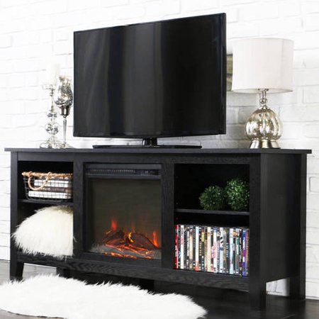 Driftwood Tv Stand With Fireplace Insert For Tvs Up To 60