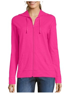 b10d2173f22 Product Image Women s Slub Jersey Cotton Full Zip Hoodie