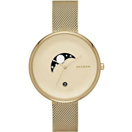 - Skagen  Women's SKW2373 'Gitte' Moonphase Gold-Tone Stainless Steel Watch