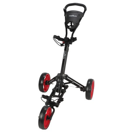 Caddymatic Golf X-Lite One-Click Folding Pull/Push Golf Cart Black/Red - image 1 of 2