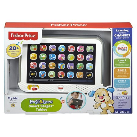 Fisher-Price - Laugh & Learn - Smart Stages Tablet - CDG33 - Mattel, Introducing the Fisher-Price Laugh & Learn Smart Stages Tablet! Y By FisherPrice - Fisher Price Smart Cycle